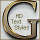Golden Text Styles - GraphicRiver Item for Sale