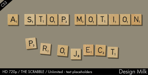 After Effects Project - VideoHive The Scrabble 631451