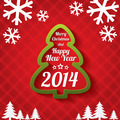Merry Christmas tree greeting card. 2014. - PhotoDune Item for Sale