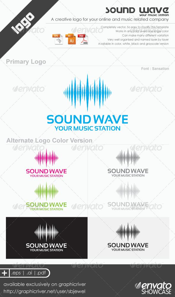 Graphic River Sound Wave Logo Templates Logo Templates -  Abstract 589340