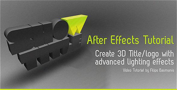 TutsPlus Create 3D Extruded Logo With Advanced Lighting 636182