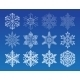 Snowflake Winter Set Vector Illustration - GraphicRiver Item for Sale