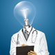 Vector Lamp Head Doctor Man with Clipboard - GraphicRiver Item for Sale