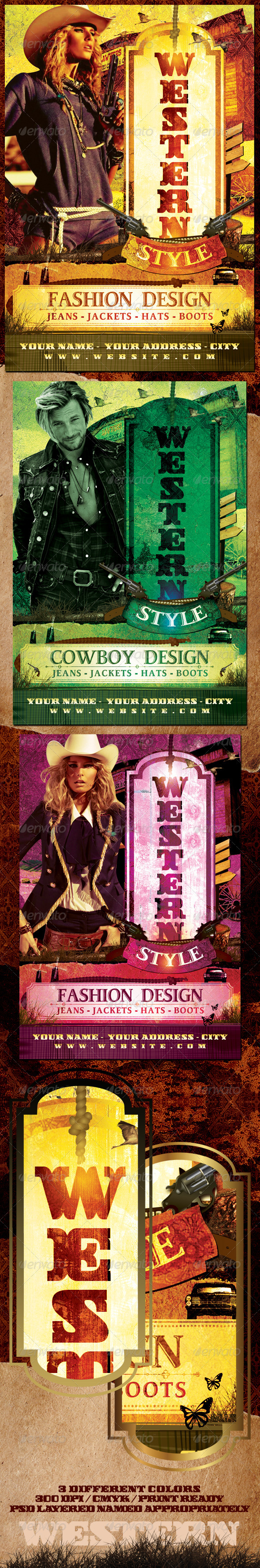 GraphicRiver Western Style Flyer Template 638367