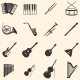 Vector Set of 16  Musical Instruments Icons - GraphicRiver Item for Sale