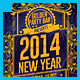New Year Golden Party Flyer - GraphicRiver Item for Sale