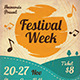 Festival Week Flyer Template - GraphicRiver Item for Sale
