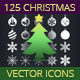 125 Vector Christmas Icons - GraphicRiver Item for Sale