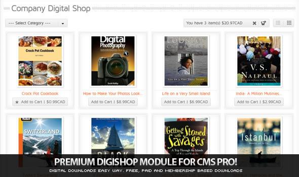 CodeCanyon DigiShop Module for CMS pro 641774