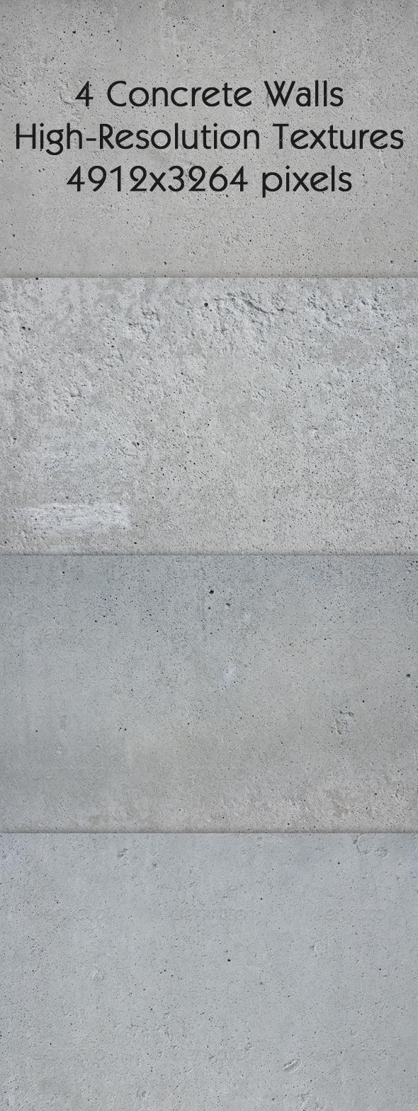 GraphicRiver 4 Concrete Walls Textures 641799