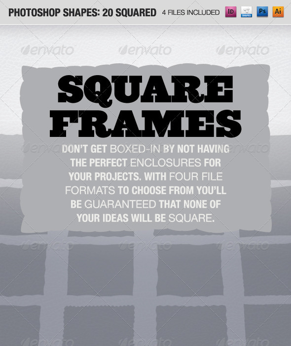 GraphicRiver 20 Squared Frames 642072