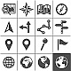 Cartography and Topography Icons - GraphicRiver Item for Sale