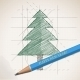 Sketch Drawing of Christmas Background - GraphicRiver Item for Sale