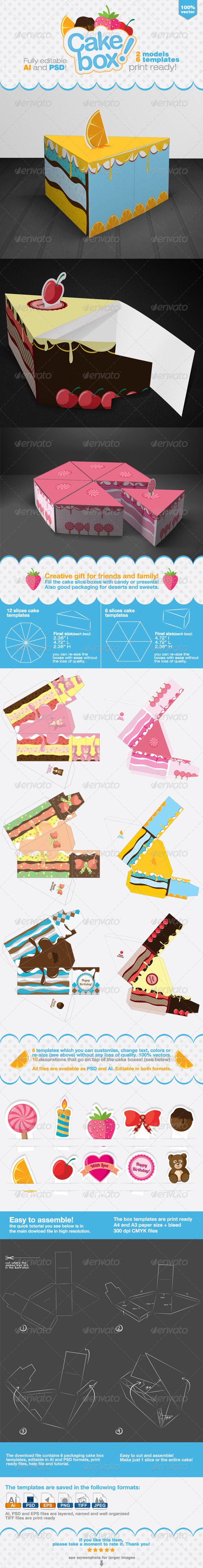 GraphicRiver Cake Packaging Gift Box 6112297