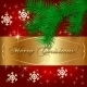 Vector Red Christmas Holiday Greeting Card - GraphicRiver Item for Sale