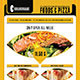 Food And Pizza Menu Flyer PSD  - GraphicRiver Item for Sale