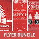 The Typographic Christmas Flyer Bundle Vol 1. - GraphicRiver Item for Sale