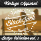 Vintage Apparel Badge Collection Vol. 1 - GraphicRiver Item for Sale