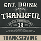 Vintage Typography Thanksgiving Invitation - GraphicRiver Item for Sale