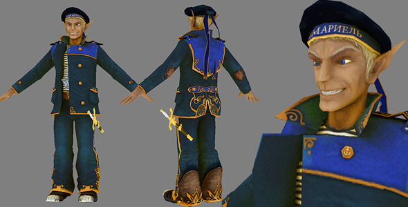 3DOcean Steampunk Elf Marine 6166529