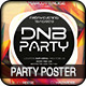 DnB Party Club Colorful Futuristic Poster Flyer - GraphicRiver Item for Sale