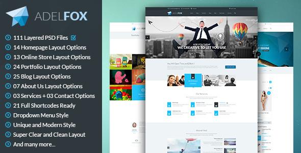 AdelFox | Multi-Purpose PSD Template - Business Corporate