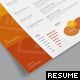 Cascade One Page Resume Template - GraphicRiver Item for Sale