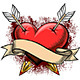 Heart Pierced by Arrows - GraphicRiver Item for Sale