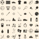 Vector Set of 49 Icons for Sports Store - GraphicRiver Item for Sale