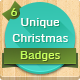 6 Unique Christmas Badges - GraphicRiver Item for Sale
