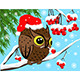 Red Berries and Owl  - GraphicRiver Item for Sale