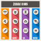 Zodiac Symbols Set - GraphicRiver Item for Sale