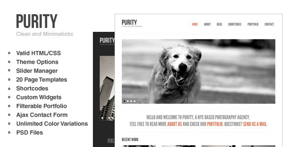 Purity: Clean, Minimal & Bold WordPress Theme