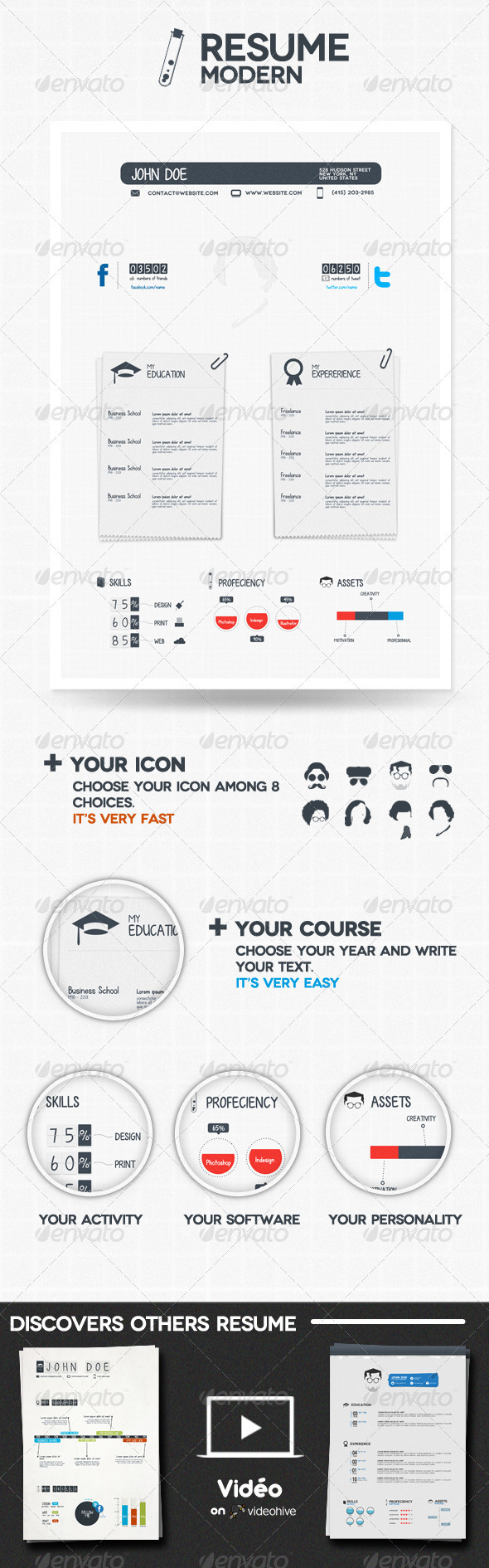 GraphicRiver Modern Resume 650329