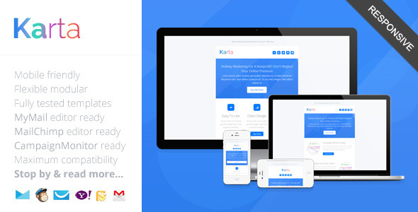Karta minimalist responsive email template by saputrad for How to make a responsive email template