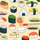 Sushi Seamless Background - GraphicRiver Item for Sale