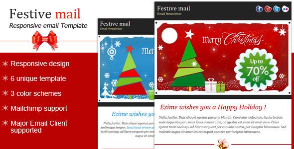 Festive2 - Christmas Newsletter Template