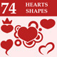 Hearts custom shapes - GraphicRiver Item for Sale