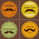 Mustache Vintage Fancy Labels  - GraphicRiver Item for Sale