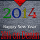 Happy 2014 Year on Denim Background - GraphicRiver Item for Sale