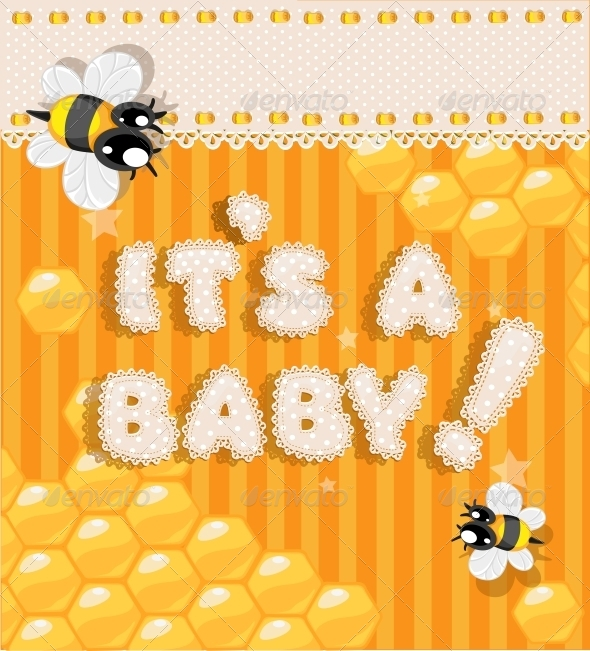 GraphicRiver Yellow Honey Announcement Card 6284710