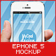 Photorealistic ePhone5 Mock-Up - GraphicRiver Item for Sale