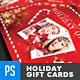 Christmas Holidays Gift Card / Loyalty Card - GraphicRiver Item for Sale