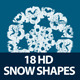 18 Snow Shapes for Christmas - GraphicRiver Item for Sale