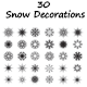 30 Snow Decorations  - GraphicRiver Item for Sale