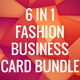 Fashion Business Card Bundle 6 in 1 - GraphicRiver Item for Sale
