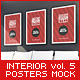 Luxury Interior Posters Mock-Up vol.5 - GraphicRiver Item for Sale