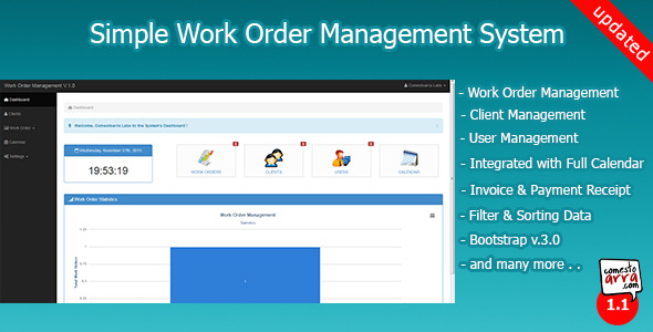 Php scripts simple work order management system codecanyon for Simple php template system
