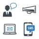Communication Icons Set 1 - Blue Series - GraphicRiver Item for Sale