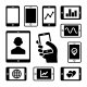 Mobile Gadgets with Business Diagrams Icons Set - GraphicRiver Item for Sale